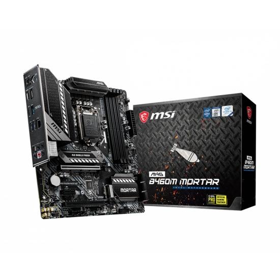 MSI MAG Mortar Intel B460M LGA 1200 Micro ATX DDR4-SDRAM Motherboard Image