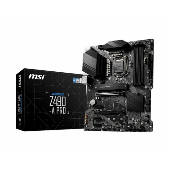 MSI Pro Intel Z490 LGA 1200 ATX DDR4-SDRAM Motherboard Image