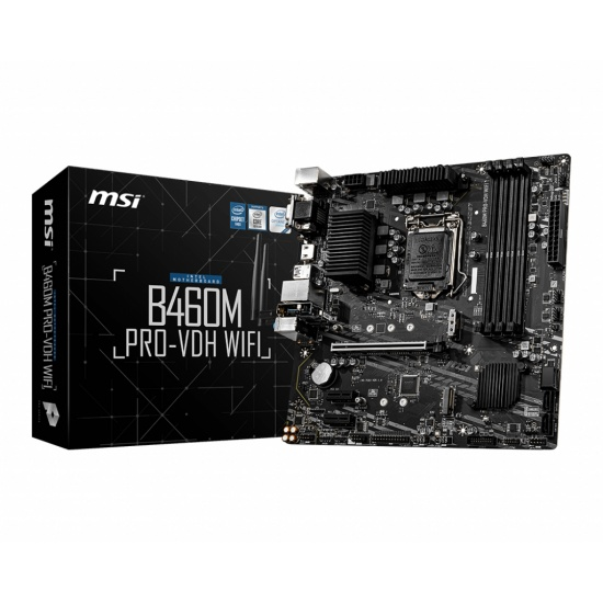 MSI Intel B460 LGA 1200 Micro ATX DDR4-SDRAM Motherboard Image