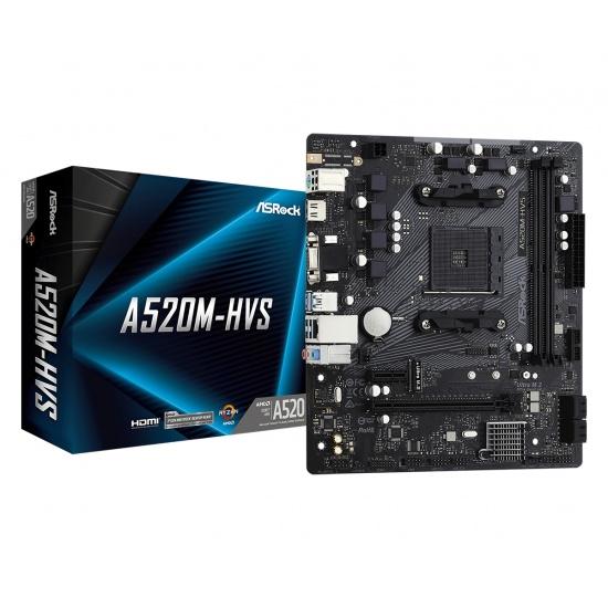 Asrock AMD A520 Socket AM4 Micro ATX DDR4-SDRAM Motherboard Image