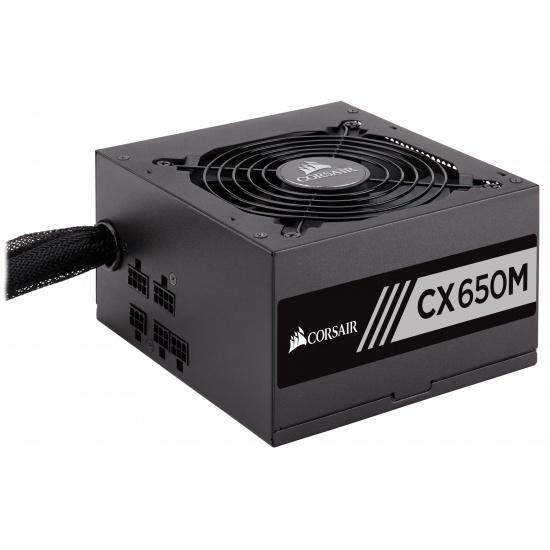 Corsair CX650M 650 Watt 20+4 Pin ATX Power Supply - Black Image