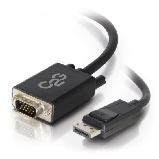 C2G 6FT DisplayPort Male to VGA Male Active Adapter Cable - Black Image