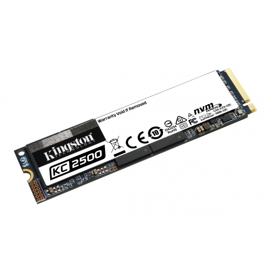 500GB Kingston KC2500 M.2 2280 PCI Express 3.0 x 4 NVMe Internal Solid State Drive Image