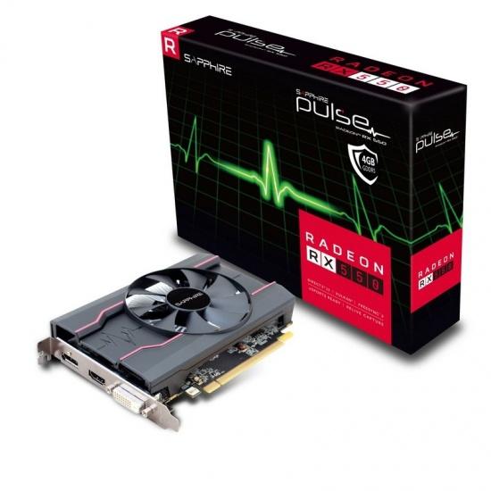 4GB Sapphire AMD Radeon RX 550 GDDR5 Graphics Card Image