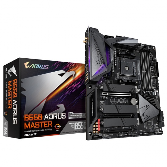 Gigabyte B550 Aorus Master AMD B550 Socket AM4 ATX Motherboard Image