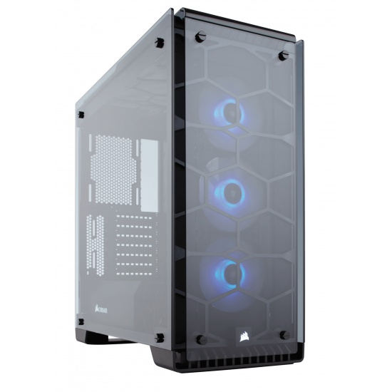 Corsair Crystal 570X Midi Tower Computer Case - Black, Transparent Image