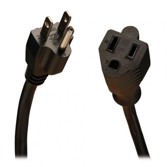 25FT Tripp Lite NEMA 5-15P To NEMA 5-15R Power Extension Cable - Black Image