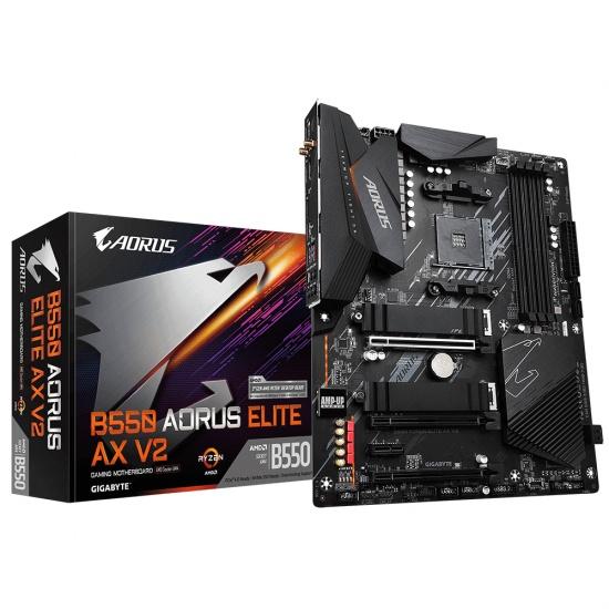 Gigabyte B550 AORUS ELITE AX V2 AMD B550 Socket AM4 ATX Motherboard Image