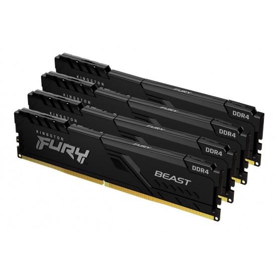 32GB Kingston FURY Beast 3000MHz DDR4 Quad Memory Kit (4 x 8GB) Image