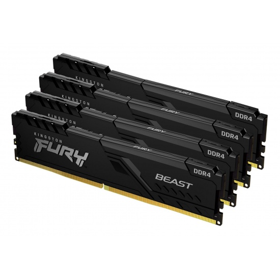 64GB Kingston FURY Beast 3000MHz DDR4 Quad Memory Kit (4 x 16GB) Image