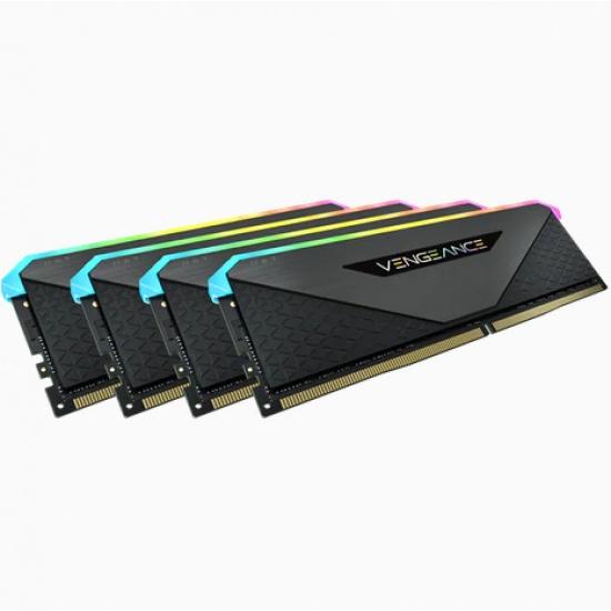32GB Corsair Vengeance RGB RT 3200MHz DDR4 Quad Memory Kit (4 x 8GB) Image