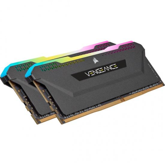 16GB Corsair Vengeance RGB PRO 3200MHz DDR4 Dual Memory Kit (2 x 8GB) - Black Image