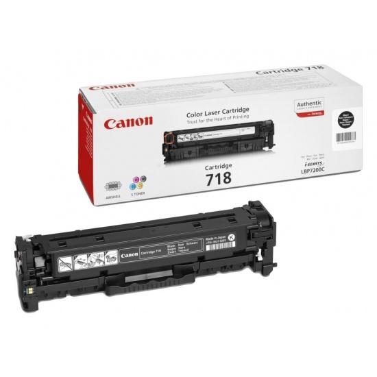 Canon iSENSYS Compatible Laser Toner Cartridge 2662B002 CRG 718 LBP7660Cdn, LBP7200Cdn Black - 3400 Page Yield Image