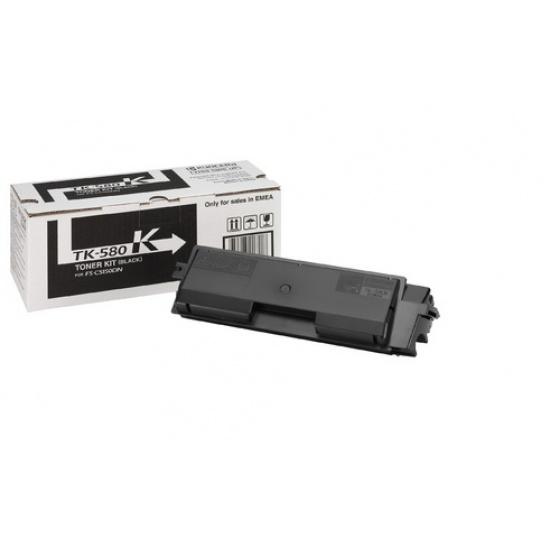 Kyocera Laser Toner Cartridge 1T02KT0NL0 TK-580K Black - 3500 Page Yield Image