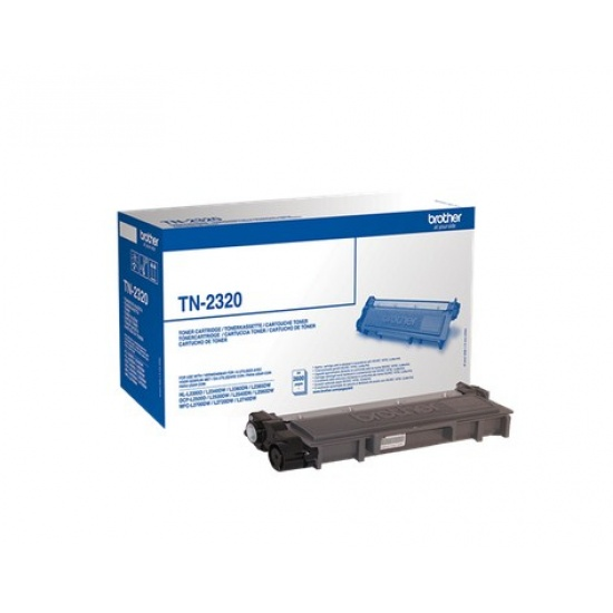 Brother Laser Toner Cartridge TN2320 Black - 2600 Page Yield Image
