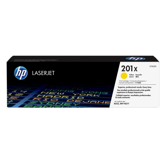 HP Laser Toner Cartridge - 201X - CF420 - Yellow - 2300 Page Yield Image