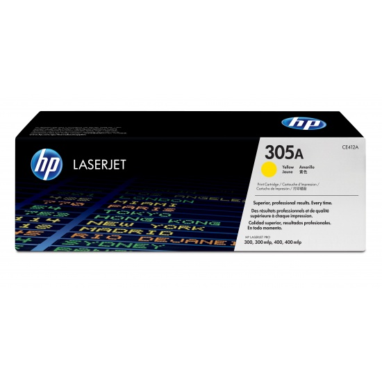HP LaserJet Toner Cartridge - CE412A - Yellow - 2600 Page Yield Image
