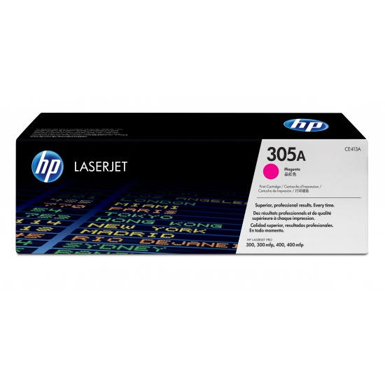 HP LaserJet Toner Cartridge CE413A 305A - Magenta - 2600 Page Yield Image