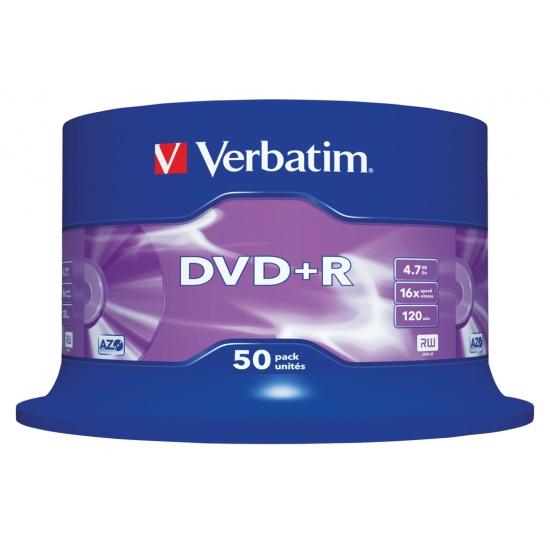 Verbatim DVD+R 16x 4.7GB 50-Pack Spindle Image