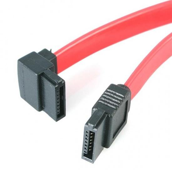 StarTech SATA to Left Angle SATA Serial ATA Cable - 1FT Image