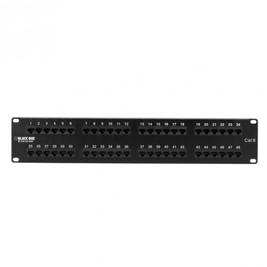 Black Box Cat6 48-Ports 2U Patch Panel Image