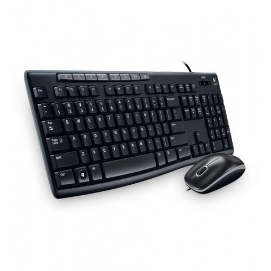 Logitech MK200 Keyboard and Mouse Combo USB Black Keyboard - US Layout Image