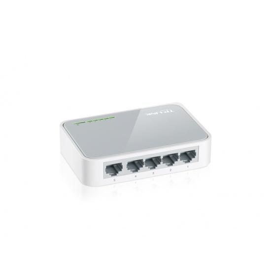 TP-LINK 5-Port 10/100Mbps Desktop Switch Unmanaged White Image