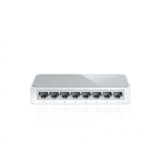 TP-LINK 8-Port 10/100Mbps Desktop Switch Unmanaged White Image
