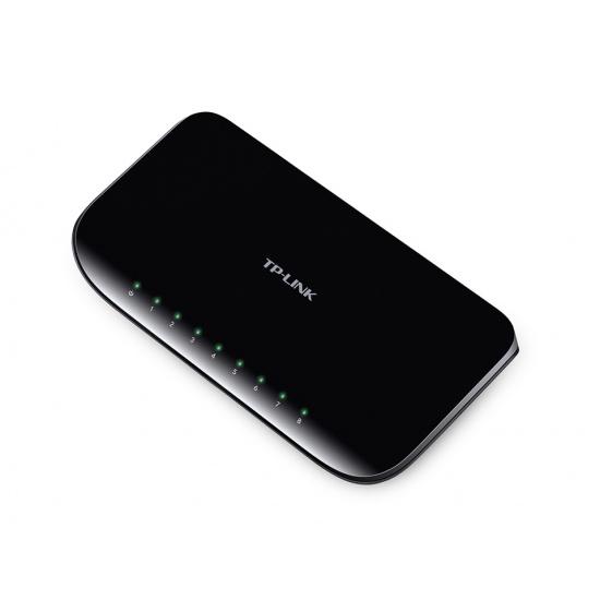 TP-Link 8-Port Gigabit Desktop Unmanaged Switch (10/100/1000) - Black Image