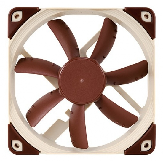 Noctua 120MM 1200RPM Anti-Stall Knobs Blade Tips SSO2 Bearing Fan - Brown Image