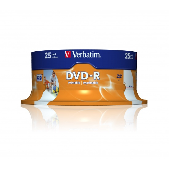 Verbatim DVD-R 4.7GB 16X 120Min 25-Pack Spindle Image