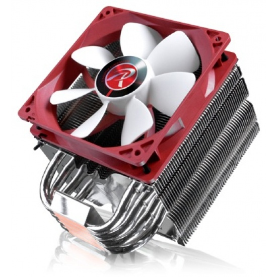 RAIJINTEK Themis Evo 120MM Processor Cooler Metallic Red/White Image
