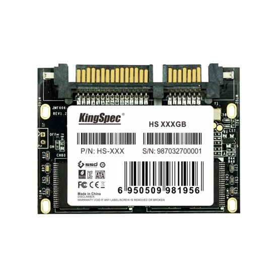 32GB KingSpec Half Slim SATA III 6Gbps SSD Solid State Disk Image