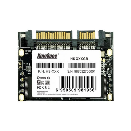 64GB KingSpec Half Slim SATA III 6Gbps SSD Solid State Disk Image