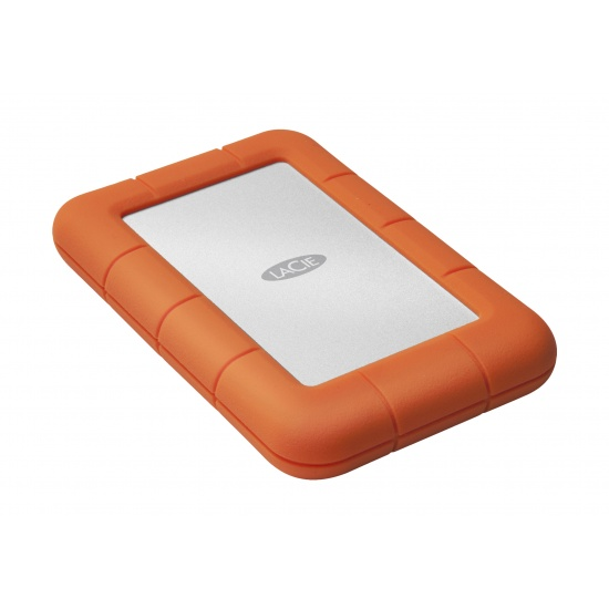 4TB Lacie Rugged Mini USB3.0 Portable External Hard Drive, Orange Image