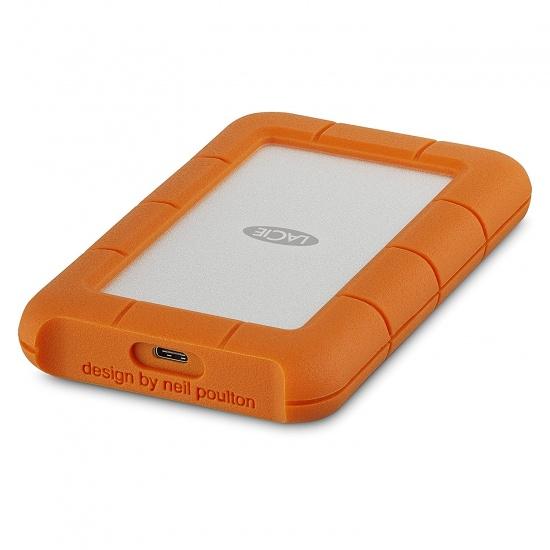 1TB LaCie Rugged Mini External Hard Drive, USB 3.1 Type C - Orange Image