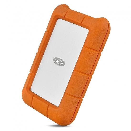 4TB LaCie Rugged Mini External Hard Drive - USB 3.1 Type C, Orange Image