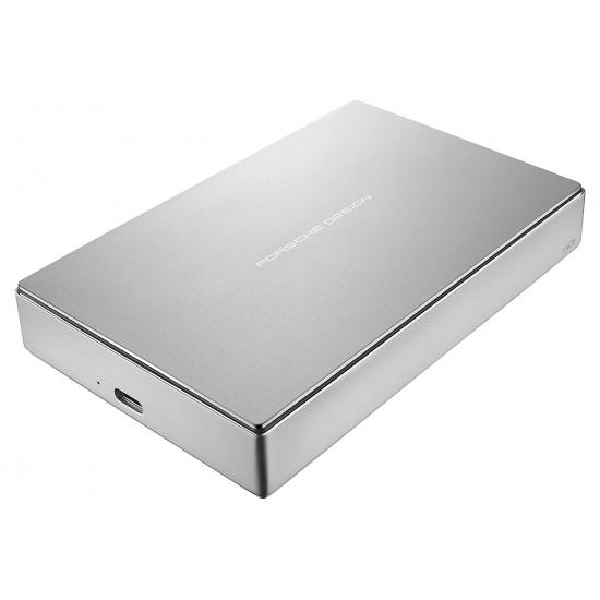 5TB LaCie Porsche Design USB-C Mobile Hard Drive, Silver Image