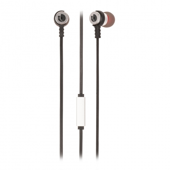 NGS Wired Stereo Earphones Cross Rally Silver Image