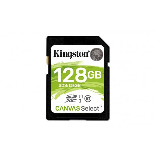 128GB Kingston Canvas Select SDXC Memory Card UHS-I CL10 Image