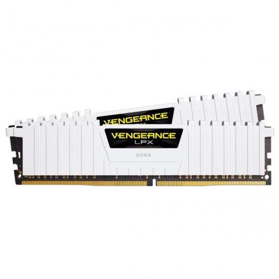 16GB Corsair Vengeance LPX DDR4 2666MHz PC4-21300 CL16 Dual Channel Kit (2x 8GB) White Image