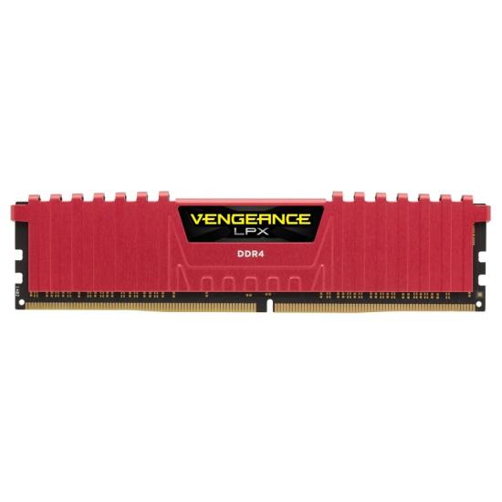 8GB Corsair Vengeance LPX DDR4 2400MHz PC4-19200 CL14 Memory Module - Red Image