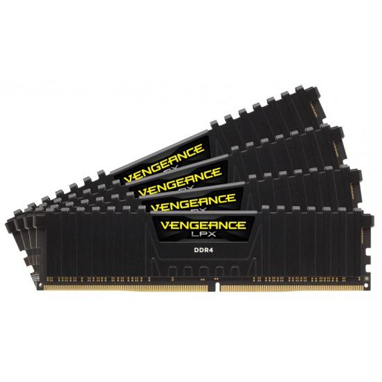 16GB Corsair Vengeance LPX DDR4 2666MHz PC4-21300 CL16 Quad Channel Kit (4x 4GB) Black Image