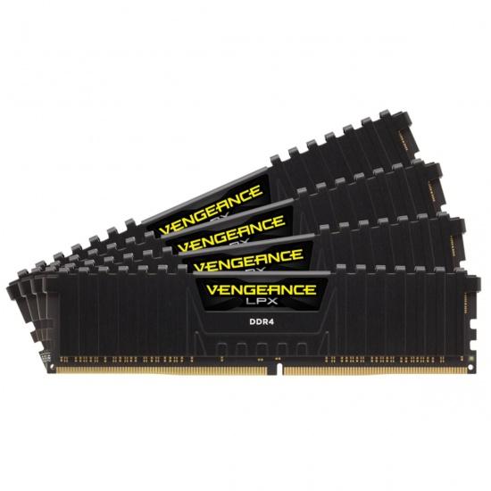 64GB Corsair Vengeance LPX DDR4 2400MHz PC4-19200 CL14 Quad Channel Kit (4x 16GB) Black Image