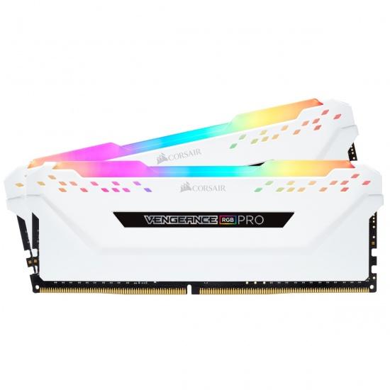 32GB Corsair Vengeance RGB Pro DDR4 2666MHz PC4-21300 CL16 Dual Channel Kit (2x 16GB) White Image