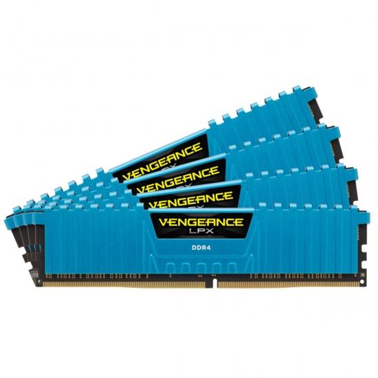 16GB Corsair Vengeance LPX DDR4 2133MHz PC4-17000 CL13 Quad Channel Kit (4x 4GB) Blue Image