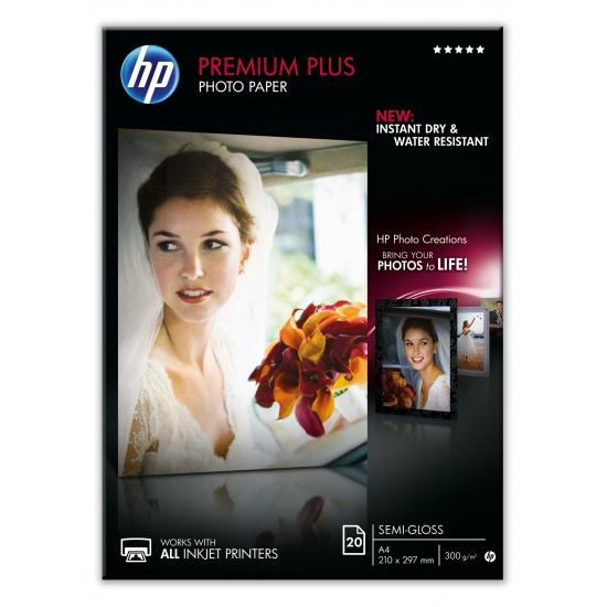 HP Semi-Glossy A4 8.5x11 Premium Plus Photo Paper - 20 sheets Image