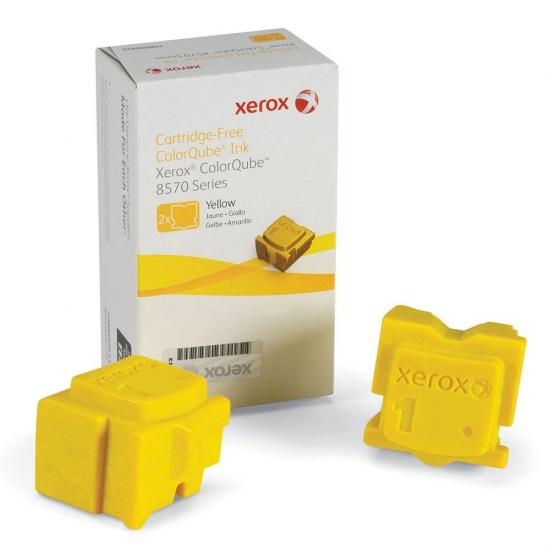 Xerox ColorQube 8570 Yellow Toner Cartridges - 2 Sticks Image