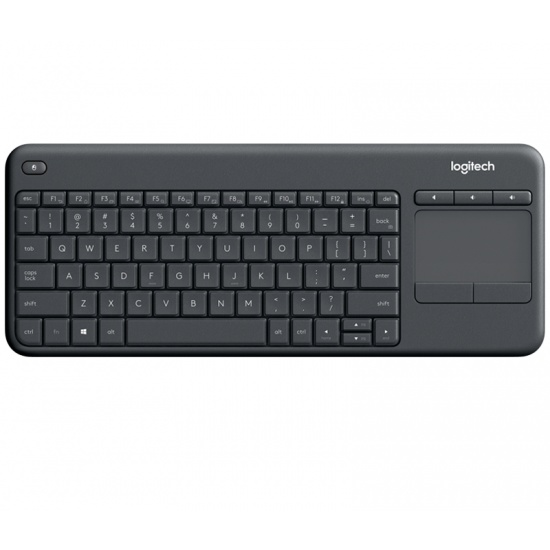 Logitech K400 Plus Wireless Touch Keyboard - German Layout - Grey Image