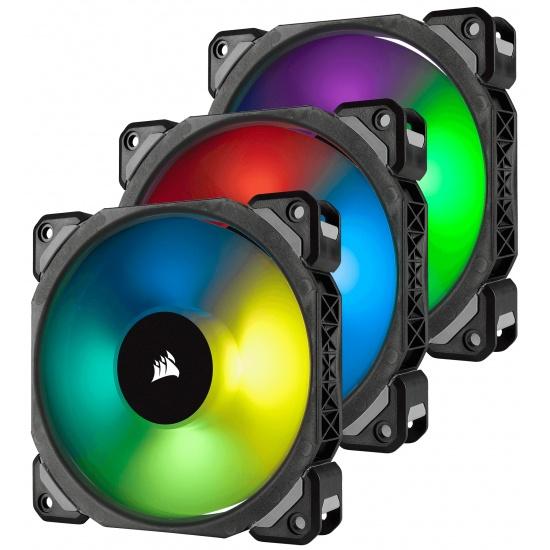 Corsair ML120 Pro PWM RGB 120mm Computer Case Fans - Triple Pack Image